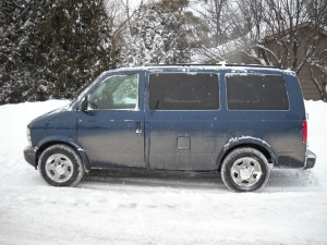 The fully paid-for gas guzzling minivan